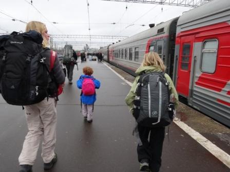 Train au depart de Moscou pour Irkutsk